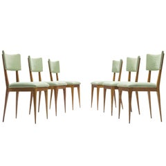 Silvio Cavatorta Set of Six Dining Chairs, circa 1950s