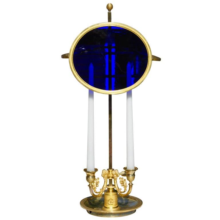 Period Louis XVI Neoclassical Ormolu Bouillotte or Reading Lamp