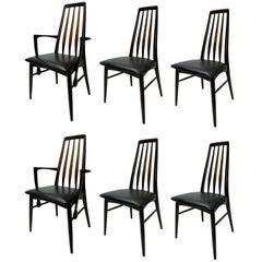 Niels Koefoed for Koefoed Hornslet Set of Six Rosewood Chairs