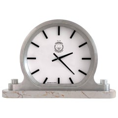 Mantle Wall Ceiling Clock Cast Aluminium Limestone by Master Swedish Bell Maker