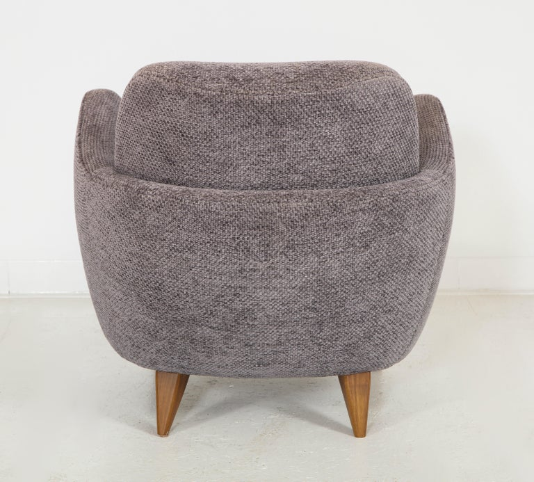Wrap Around Barrel Chair w/ Wood Base Offered by Vladimir Kagan Design Group For Sale 2