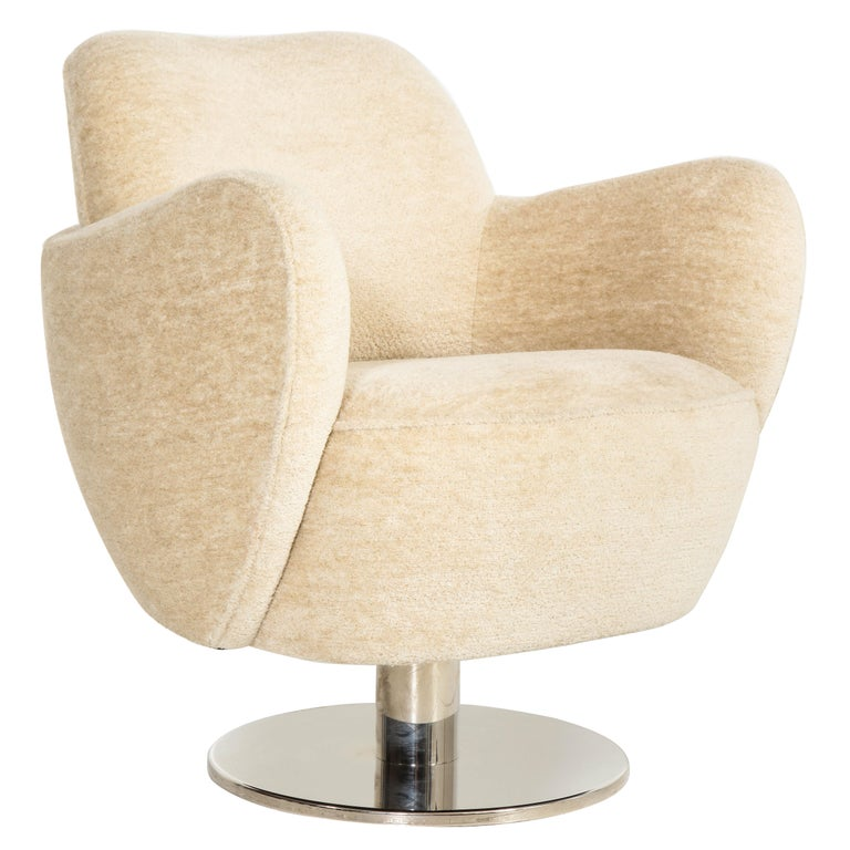 Contemporary Wrap Around Swivel Barrel Chair Offered by Vladimir Kagan Design Group For Sale