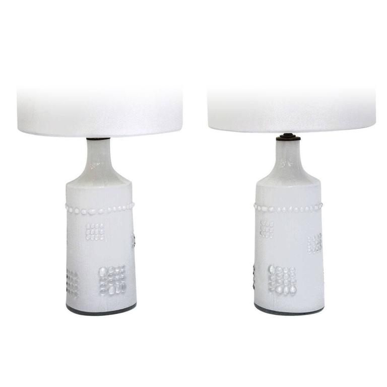 Swedish White Glass Lamps, Pukeberg