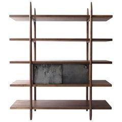 Deepstep Shelving, Maple and Ebony Modular Storage with Fine Wood Detailing