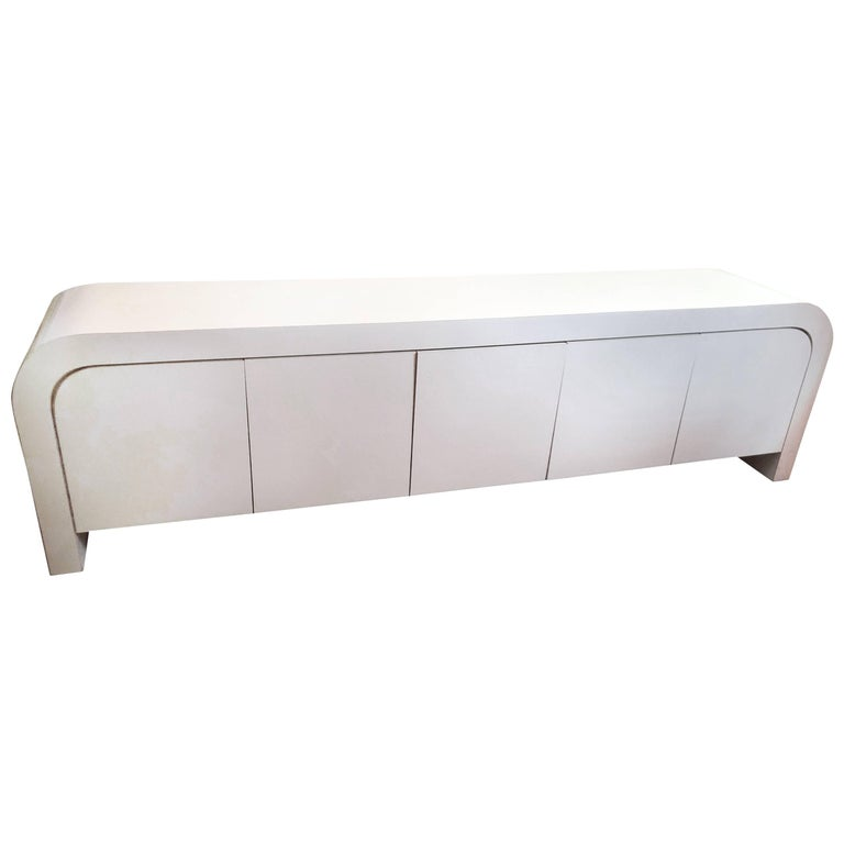Ello Style Waterfall Credenza in off White