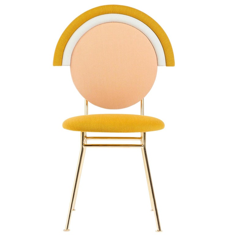 Iris Chair with Brass Finished Legs by Merve Kahraman
