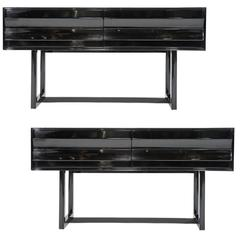 Strikingly Handsome Pair of Paul Laszlo Sideboards for Brown and Saltman