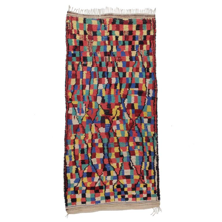 """Rainbow"" Azilal Moroccan Berber Rug"