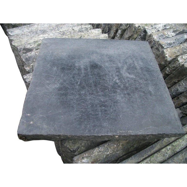 Old Natural Stone Floortiles In Black For Sale At 1stdibs