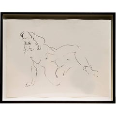 Set of Six Framed Female Fluid Nudes by Barry Flanagan Ra Obe - Welsh