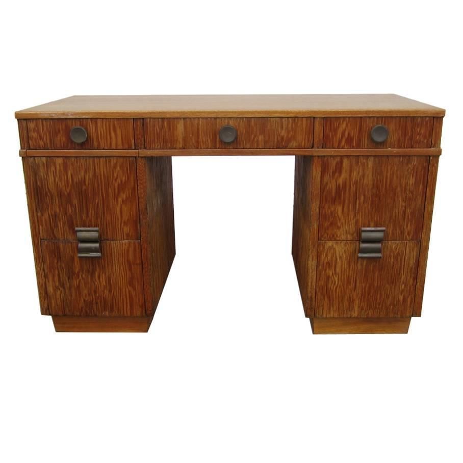 Paul Frankl for Brown Saltman Combed Wood Desk
