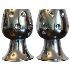 "Pair of Chase Decorative Objects ""Baccus"" Goblets, 1930s"