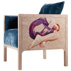Na Box Contemporary Armchair with Artistic Intervention of Cristina Troufa