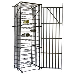 French Steel Wine Crate or Locker