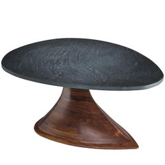 Phillip Lloyd Powell Walnut and Slate Coffee Table