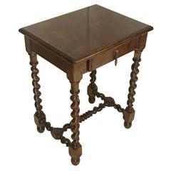 Spool Leg Side Table, France, 19th Century
