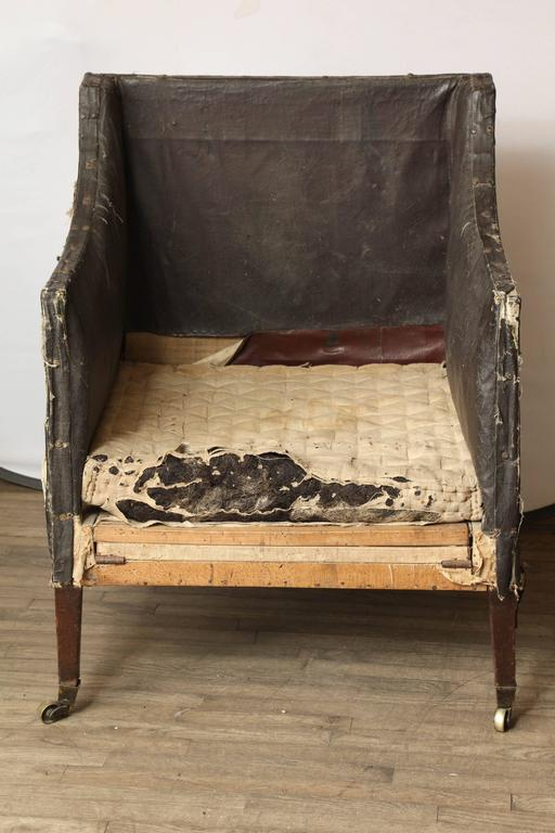 Large 18th Century English Library Chair For Sale 1