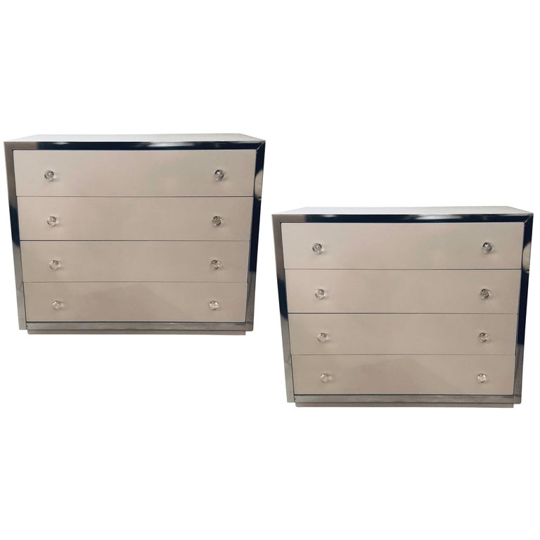 Pair of Mid-Century Modern Commodes Attributed to John Stuart