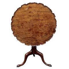 English Pie Crust Tilt-Top Tripod Table