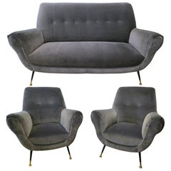 Italian Midcentury Sofa Suite by Gigi Radice