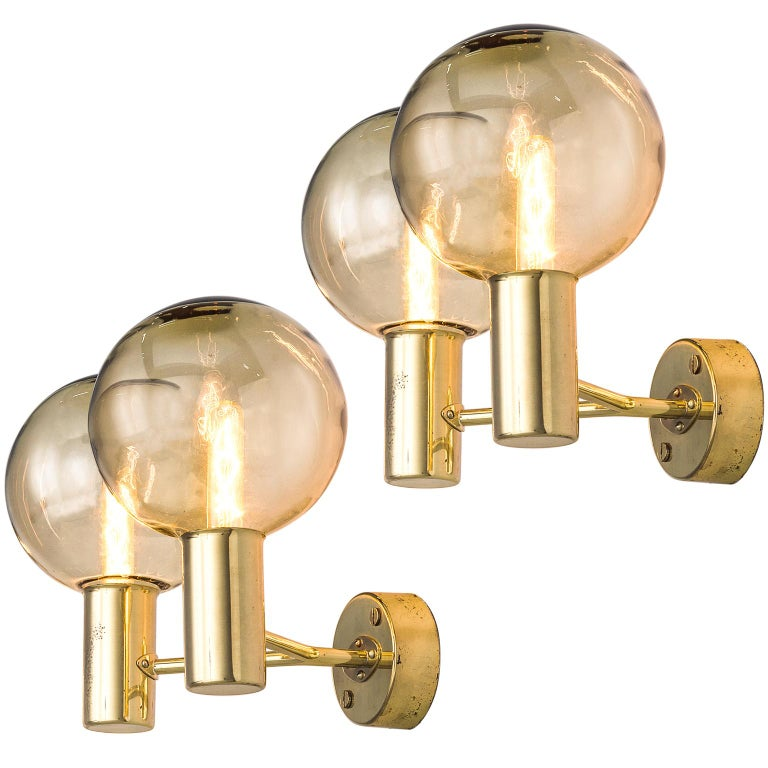 Hans-Agne Jakobsson Brass Wall Sconces