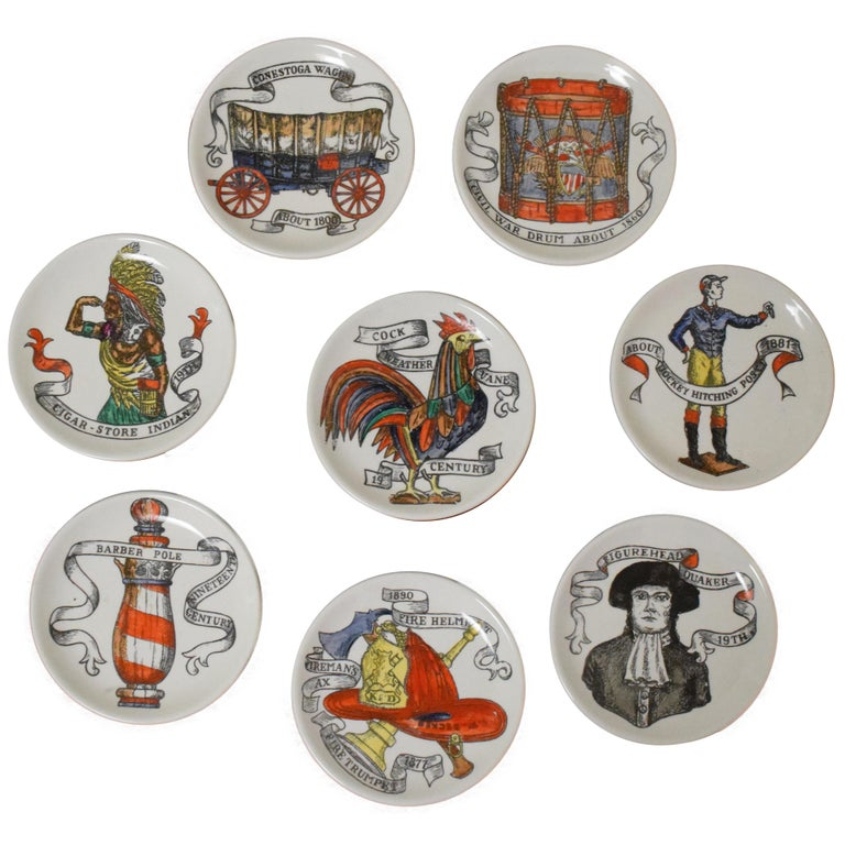 Fornasetti American Antiques Coasters For Sale