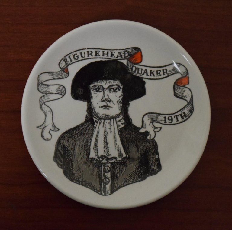 Italian Fornasetti American Antiques Coasters For Sale