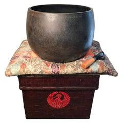 Japanese Huge Old Temple Bell Cast Bronze ,Bold Sound, Signed 1927