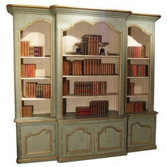 Grande French Regence Style Painted Bibliotheque from Toulouse