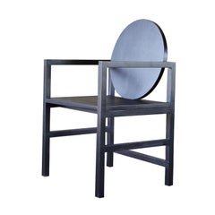"Contemporary Armchair in Brazilian Hardwood, the ""Medallion"" in Black"