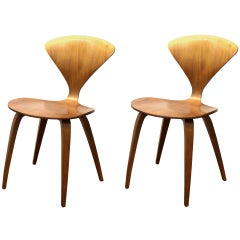 Norman Cherner Midcentury Plycraft Side Chairs