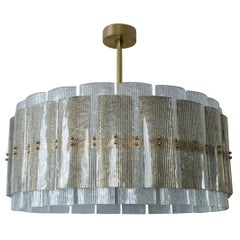 Large Drum Chandelier in Taupe