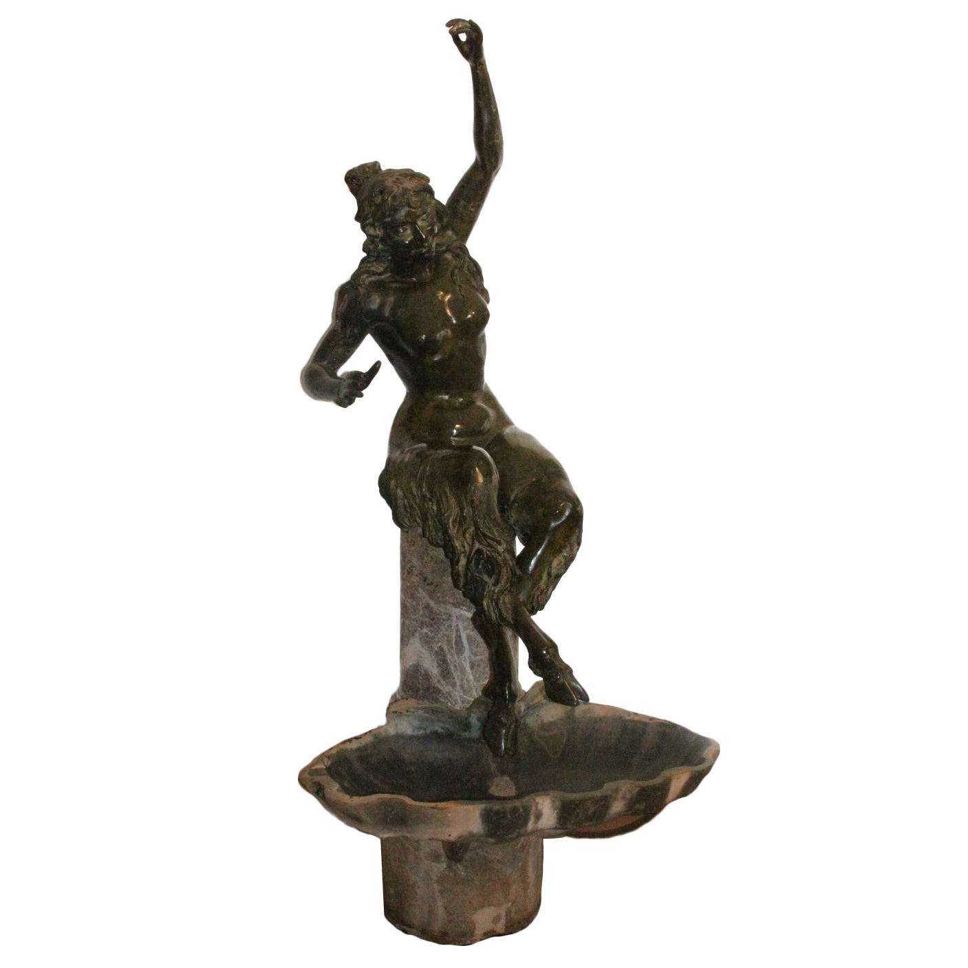 Monumental Patinated Figure Bronze Sculpture