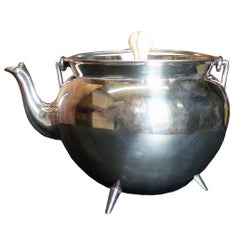 Silver Plated Tea-Pot with Cover and Bone Finial