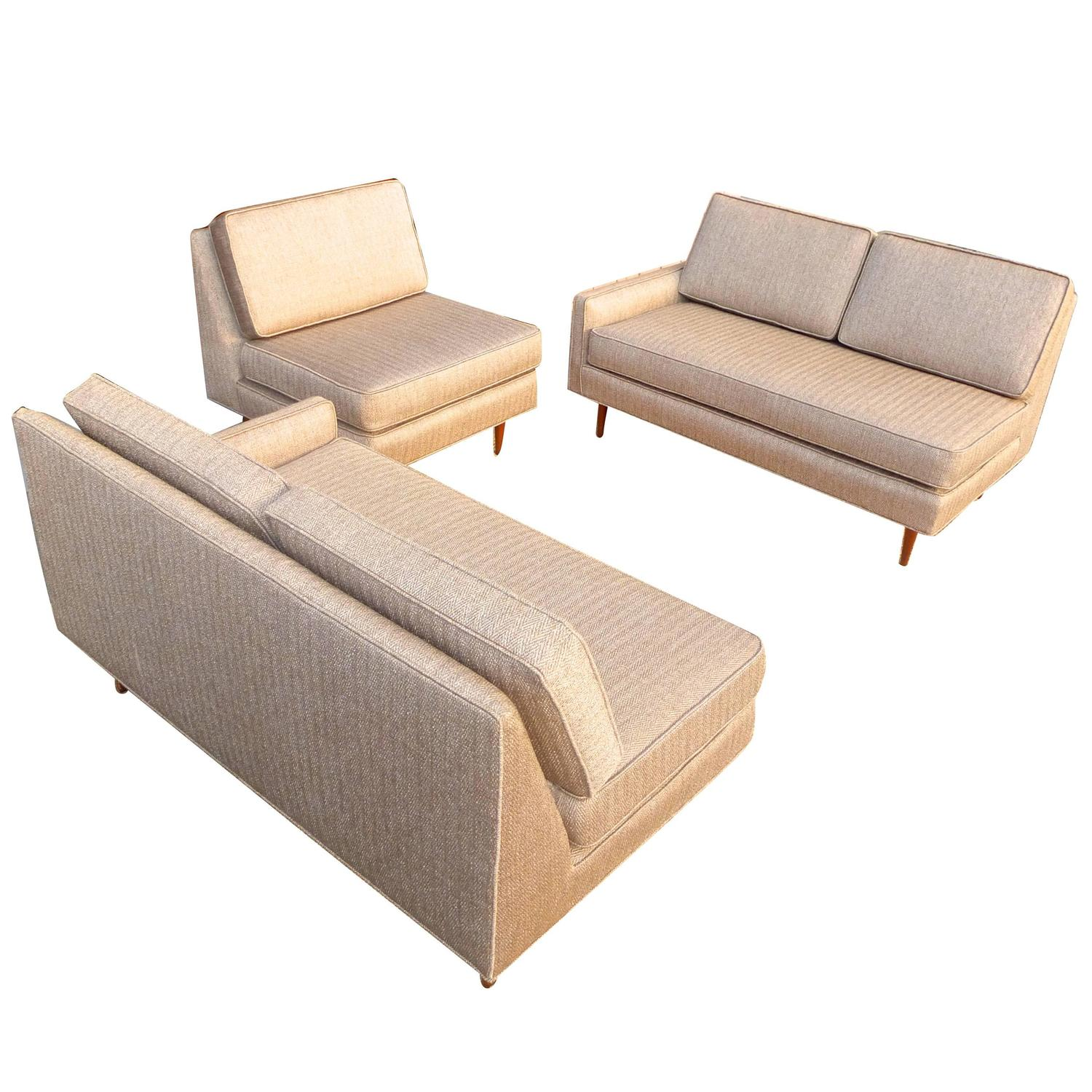 Harvey Probber Three Piece Sofa Sectional For Sale at 1stdibs