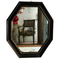 Italian Carved Octagonal Mirror, Late 17th Century