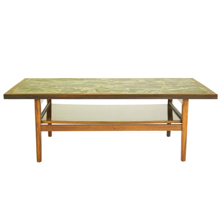 Stone-Top Cocktail Table