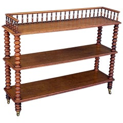English Trolley Console Server of Oak