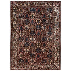 20th Century Multicolored Persian Bakhtiari Rug