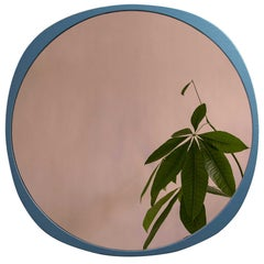 Customizable Fade Mirror from Souda, Peach Mirror and Petrol Blue Frame