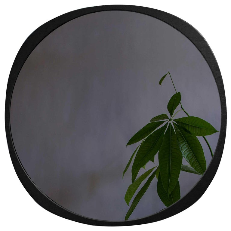 Customizable Fade Mirror from Souda, Smoke Mirror and Black Frame