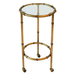 Gold Gilt Round Side or Drinks Table