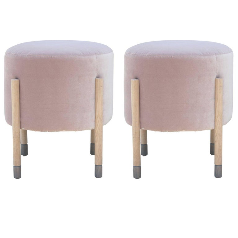 Lolu Grey Puffy Stool For Sale At 1stdibs