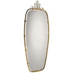 Gio Ponti Brass Mirror, 1930s