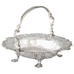 George II Sterling Silver Basket, London, 1745
