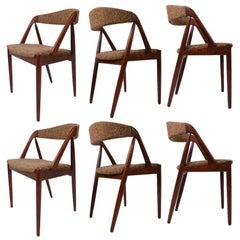 Set of Six Kai Kristiansen Rosewood Dining Chairs Model 31