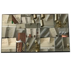 Neal Small Faceted Mirror Wall Sculpture