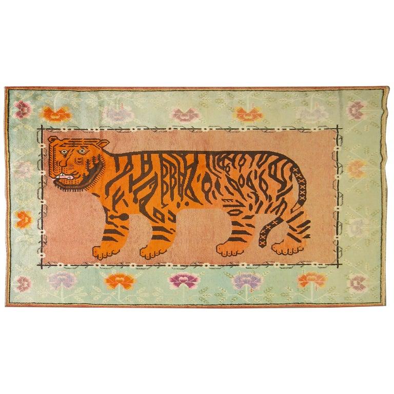 Vintage Tiger Skin Rug At 1stdibs