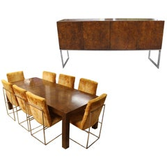 Mid-Century Modern Milo Baughman Dining Set
