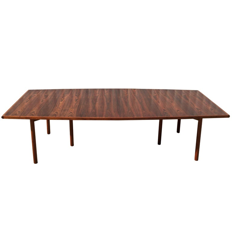 Large Arne Vodder Brazilian Rosewood Dining Table by Sibast